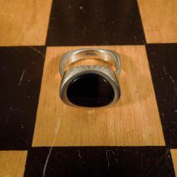 Lækreste vintage N.E. From ring i sterling sølv med onyx! Ringstr. 56