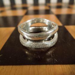 Vintage designer-ring sammensat af to ringe!