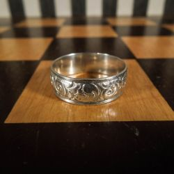 """Lækker vintage """"bånd""""-ring i sterling sølv! Stor ringstr. 64"""