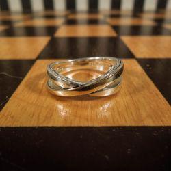 Vintage ring i sterling sølv med detalje af guld fra Aagaard!