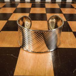 Smukkeste vintage armring i tre nuancer af  sterling sølv!