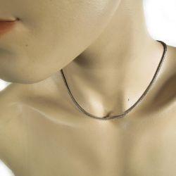 Vintage sølvkæde med smuk lås.