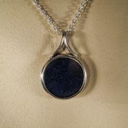 Vintage vedhæng i sterling sølv/Lapis Lazuli fra Arne Johansen i sølv halskæde!