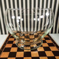 Lækreste vintage bowle i tungt klart glas!