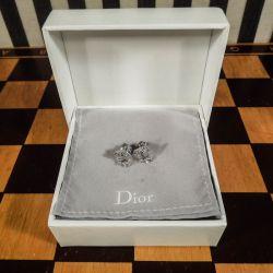 Fineste vintage Christian Dior logo/blomster ørestikkere med sten!