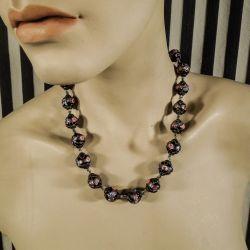 Vintage halskæde med gamle, håndlavede ægte Murano glas Perler!