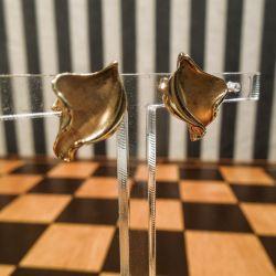 Smukkeste vintage ørestikkere i guld!