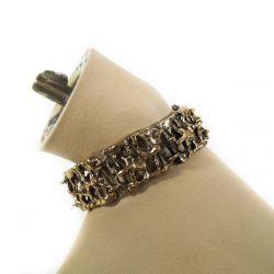 Super smukt, råt armbånd, finsk bronze design smykke.