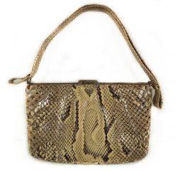 Super lækker vintage taske i pyton-skind.