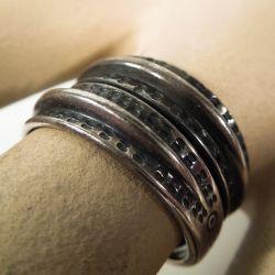 Vintage sølv ring fra David Andersen, museums-smykke.