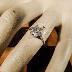 Vintage prinsesse-ring med zirkonia i sterling sølv fra Volmer Bahner