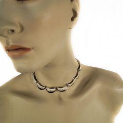 Super fin forgyldt vintage sølv halskæde.