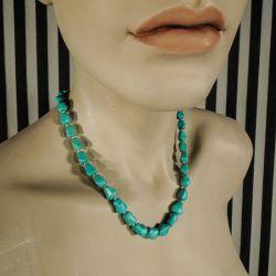 Vintage halskæder af ægte turkis sten fra Poul Erik Fenster