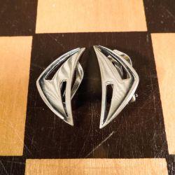 Vintage sølvøreclips i lækkert design fra Viggo Wollny
