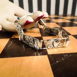 Smuk antik skønvirke sølv-lænke