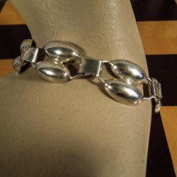 smukt vintage sølv armbånd