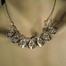 Vintage Herman Siersbøl halskæde i rent sølv