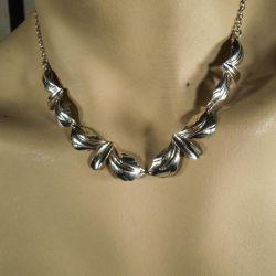 Vintage sølv halskæde fra N.E. From.