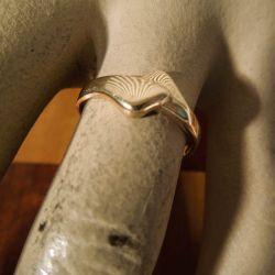Vintage feminim Aagaard guld-ring