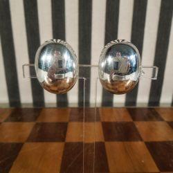 Vintage let buede øreclips i sterling sølv.