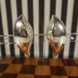 Vintage, kæmpe øreclips i sterling sølv fra Viggo Wollny.