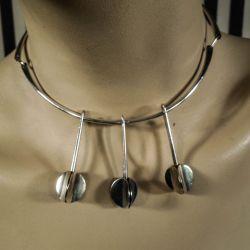 Vintage halscollier af sterling sølv designet af Eigil Jensen for Anton Michelsen.
