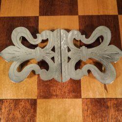 Fint antik bæltespænde i totårnet sølv