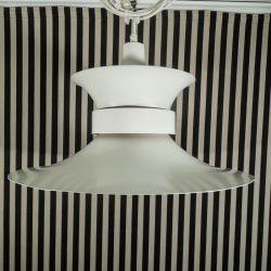 Vintage Bent Nordsted Scala lampe i hvidlakeret aluminium