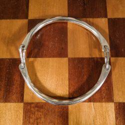 Vintage bidsel armbånd i tungt sterling sølv!