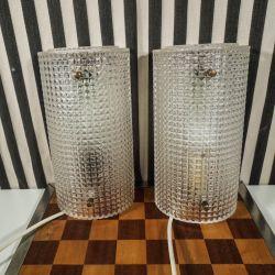 Vintage, par væglamper fra Carl Fagerlund, for Orrefors.