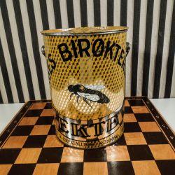 Vintage kæmpe honning-dåse fra Norges Bikøkterlag