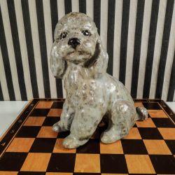 Lækker puddelhund i glaseret keramik fra Elise Glaffey!
