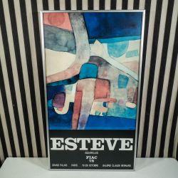Original kunstplakat fra Maurice Estéve, Aquarelles.