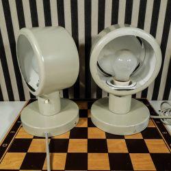 Vintage sæt væglamper/sengelamper fra Fog & Mørup