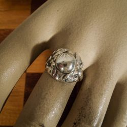 Vintage Georg Jensen sølv ring,design-nummer 11 B