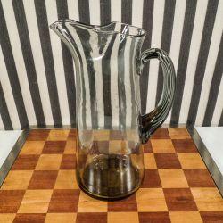 Vintage glaskande i røgfarvet glas fra Holmegaard