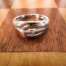 Designer ring i hvid guld med cubic Zirkonia-sten