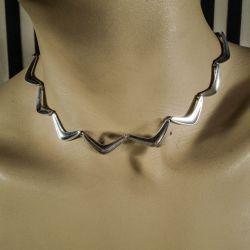 Vintage halscollier i kraftig sterling sølv fra den danske sølvsmed S.C. Fogh