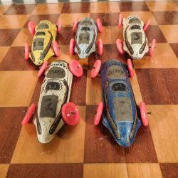 Samling  af små fine vintage Haribo Lakrids blikbiler