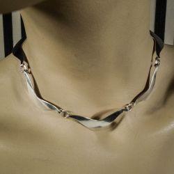 Vintage halskæde af sterling sølv fra Herman Siersbøl