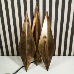 Vintage væg-lampe i kobber fra Svend Aage Holm Sørensen! Model Diamant