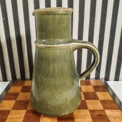 Vintage keramik kande fra Michael Andersen I mosgrønt glasur!