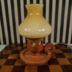 Vintage bordlampe fra Marksløjd Kinna med opal glas skærm.