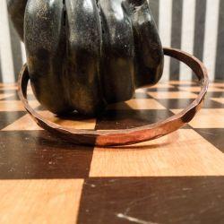 Vintage klemme arm-ring i hammerslået kobber.
