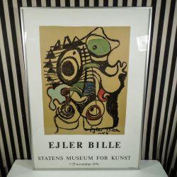 Original vintage plakat af Ejler Bille, Statens Muesum for Kunst!