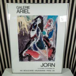 Original kunstplakat af Asger Jorn, Galerie Ariel, Paris