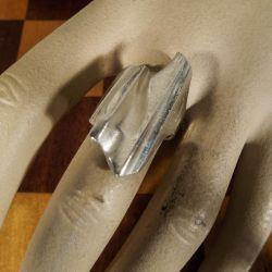"""Lapponia vintage sølv ring designet af Bjørn Weckstrøm, Model """"Shuttle""""."""