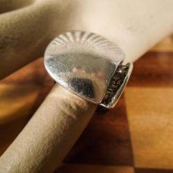 Vintage Lapponia klemme-ring i sterling sølv.