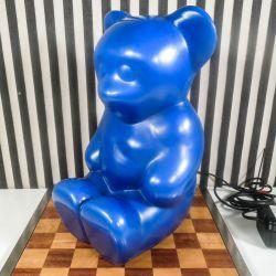 Lumibär BamseBjørns lampe i kobolt blå plastik, den originale fra Elmar Lototto