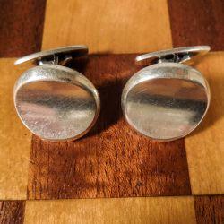 Vintage kraftige designer manchet-knapper fra sølvsmed Hans Hansen, Kolding